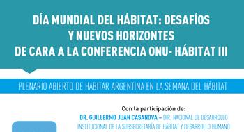 Día Mundial del Hábitat: desafíos y nuevos horizontes de cara a la conferencia ONU- Hábitat III