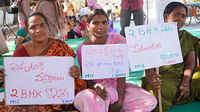 Hyderabad city slum people's federation demand 2BHK housing by 2019