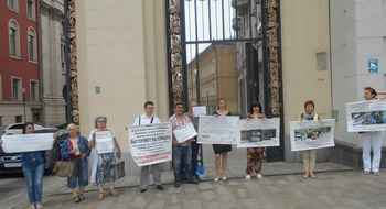 Moscow: protest against mass evictions of tenants