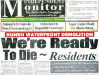 Report Bundu Waterfront Genocide, PORT HARCOURT, october 2009