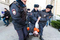 Several protest participants arrested near City Mayor's office in Moscow