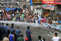 Solidarity against evictions in Navotas City, Metro Manila, Philippines, narch 2010