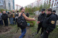 St. Petersburg. Residents Clash With Security Guards Over Construction, october 2009